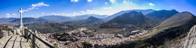 Jaen von Santa Catalina Schloss, Andalusien, Spanien- TIF stockbilder