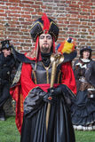 Jafar with Lago on the Elf Fantasy Fair Stock Image