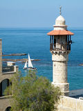 Jaffa Al-Bahr Mosque And Yacht 2011 Stock Image