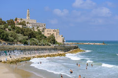 Jaffa beach Stock Image