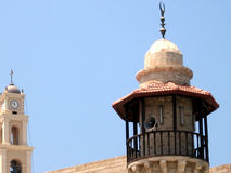 Jaffa bell tower and minaret 2007 Stock Image
