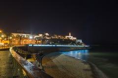 Jaffa bij nacht. Israël stock foto