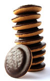 Jaffa cakes - traditional sweet cookies Royalty Free Stock Image