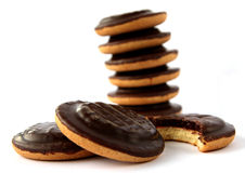 Jaffa cakes - traditional sweet cookies Stock Images