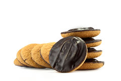 Jaffa cakes - traditional sweet cookies Stock Photos