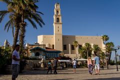 Jaffa the clock tower Stock Images