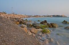 Jaffa coast line. Jaffa - old city coast line at evening Stock Photo
