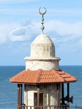 Jaffa de bovenkant van minaret van al-Bahr Moskee 2012 Stock Foto's