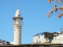 Jaffa de minaret van Al -al-siksik Moskee 2011 Royalty-vrije Stock Afbeelding