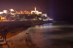 Jaffa Dusk Panorama, Israel Stock Image