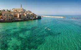 Jaffa flyg- landskap royaltyfri bild