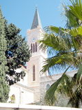 Jaffa Franciscan Church tower with clock 2011 Royalty Free Stock Photography
