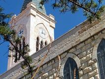 Jaffa Franciscan Kerk de klok 2011 Royalty-vrije Stock Afbeeldingen
