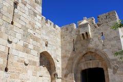 Jaffa gate, Jerusalem. Jaffa gate to the old city of Jerusalem, Israel Stock Images