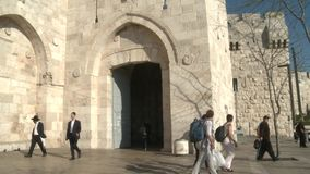 Jaffa Gate Jerusalem stock video