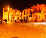 Jaffa Gate at Night, Jerusalem, Israel Stock Photo