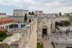 Jaffa Gate of the Old City in Jerusalem, Israel Royalty Free Stock Photos