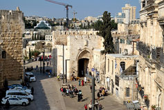 Jaffa Gate in the old city of Jerusalem Stock Photography