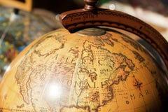 Globo dourado Imagem de Stock