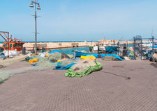 JAFFA - ISRAEL, April 10, 2017: Old Jaffa Port , Tel Aviv, Israel. JAFFA - ISRAEL, April 10, 2017: Old Jaffa Port Tel Aviv Israel is now used as a fishing Royalty Free Stock Photo