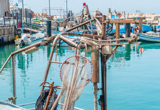 JAFFA - ISRAEL, April 10, 2017: Old Jaffa Port , Tel Aviv, Israel. JAFFA - ISRAEL, April 10, 2017: Old Jaffa Port Tel Aviv Israel is now used as a fishing Stock Photos