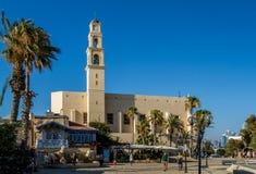 JAFFA ISRAEL, Sts Peter kyrka - Augusti 10 Arkivfoton