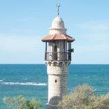 Jaffa minaret of Al-Bahr Mosque 2010 Royalty Free Stock Photo