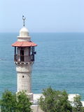 Jaffa minaret of Al-Bahr Mosque 2006. Minaret of Al-Bahr Mosque in Jaffa, Israel Royalty Free Stock Photos
