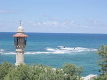 Jaffa minaret of Al-Bahr Mosque 2004 Royalty Free Stock Photography