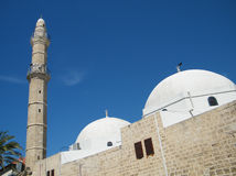 Jaffa minaret & domes of Mahmoudiya Mosque 2011 Royalty Free Stock Photos