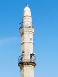 Jaffa minaret of Mahmoudiya Mosque against the blue sky 2012 Stock Photography
