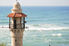 Jaffa Mosque. Mosque on the Meditteranian in Jaffa, Israel Stock Photos