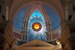 Jaffa, Old City, Israel, Middle East, St. Peter`s Church, Dome, Altar, Catholicism, Holy Land, Faith Stock Photo