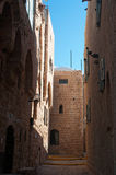 Jaffa, Old City, Israel, Middle East, skyline, alley, street, cityscape. View of the alleys of the Old City of Jaffa on August 31, 2015. Jaffa is the oldest part stock photography