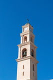 Jaffa, Old City, Israel, Middle East. View of the bell tower of St. Peter's Church in the Old City on August 31, 2015. St. Peter's church is is a Franciscan stock photos