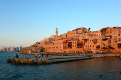 Jaffa old city at sunset, Israel Stock Photography