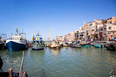 Jaffa old port. Tel Aviv, Israel. Jaffa port on Mediterranean sea. One of the oldest port in the word. Tel Aviv, Israel royalty free stock photography