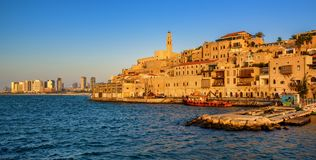 Jaffa Old Town and Tel Aviv skyline, Israel Stock Images