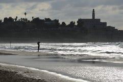 Jaffa pelo mar Imagem de Stock