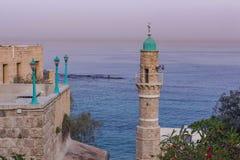 Jaffa Tel. Aviv Abrasha Park Israel en Middellandse Zee royalty-vrije stock afbeeldingen