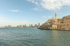 Jaffa with Tel Aviv in the background Royalty Free Stock Photos