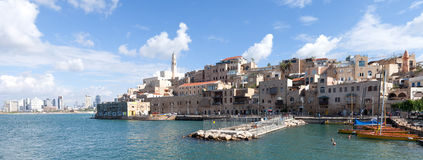 Jaffa with Tel Aviv in the background Royalty Free Stock Images