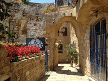 Jaffa old town stock photography