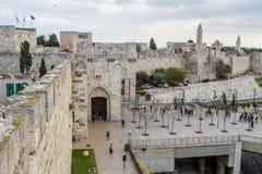 Jaffa-Tor der alten Stadt in Jerusalem, Israel lizenzfreies stockbild