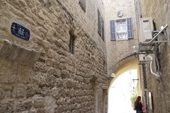 Jaffa ulica Obrazy Stock