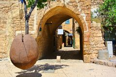 Jaffa Ville portuaire antique de l'Israël images libres de droits
