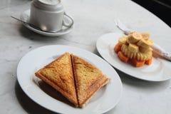 Jaffle and Fresh Fruit Stock Image