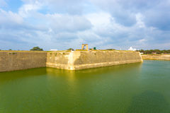 Jaffna Fort Exterior Rampart Moat Tourists H Stock Image