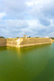 Jaffna Fort Exterior Rampart Moat Tourists V Stock Photo