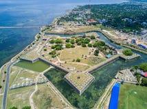Jaffna fort som byggs av portugisen nära Karaiyur, Jaffna, Sri Lanka Fästning av vår dam av mirakel av Jafanapatao royaltyfri fotografi